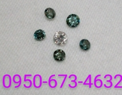 Loose green diamonds