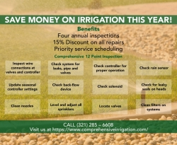 SAVE MONEY ON IRRIGATION THIS YEAR!