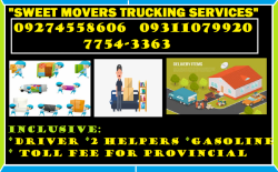 SWEET MOVERS TRUCKING SERVICES